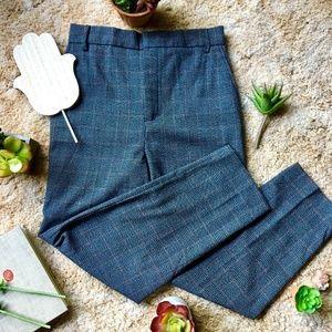 {Zara Woman}Modern Grey Plaid Classic Trouser Pant